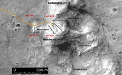 Columbia Hills aus dem Orbit